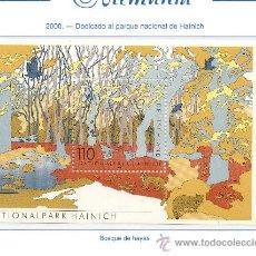 Sellos: ALEMANIA FEDERAL=YVERT Nº HB 51=PARQUES NACIONALES DE ALEMANIA=AÑO 2000=CATALOGO 2 €. Lote 36252031