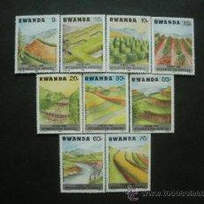 Sellos: RWANDA 1986 IVERT 1202/10 *** AÑO DE LA INTENSIFICACIÓN AGRICOLA. Lote 36720425