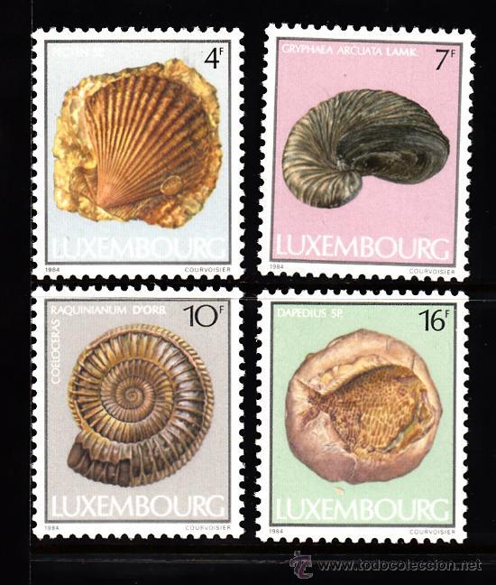 LUXEMBURGO 1057/60** - AÑO 1984 - FOSILES (Sellos - Temáticas - Naturaleza)