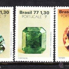 Sellos: BRASIL 1289/91** - AÑO 1977 - MINERALES - PIEDRAS PRECIOSAS. Lote 49171472
