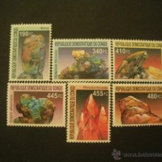 Sellos: CONGO 2002 IVERT 1543/8 *** MINERALES. Lote 50597140