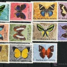 Sellos: PAPÚA- NUEVA GUINEA. 1966 MARIPOSAS NUEVOS SIN CHARNELA . Lote 54128821