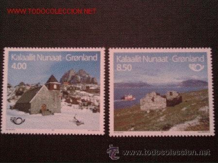 GROENLANDIA 1993 IVERT 222/3 *** NORDEN-93 - TURISMO EN LOS PAISES NÓRDICOS (Sellos - Temáticas - Naturaleza)
