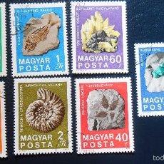 Sellos: MAGYAR - HUNGRIA 1969 - LOTE DE SELLOS -TEMA NATURALEZA MINERALES Y FOSILES- MINERAL- PIEDRAS . Lote 56014101