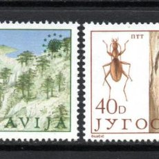Sellos: YUGOSLAVIA 1933/34** - AÑO 1984 - PROTECCION DEL MEDIO AMBIENTE - FLORA - FAUNA. Lote 60744779