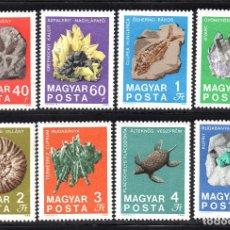Sellos: HUNGRIA 2056/63** - AÑO 1969 - MINERALES Y FOSILES - CENTENARIO DEL INSTITUTO NACIONAL DE GEOLOGIA. Lote 64440319