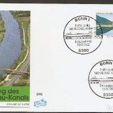 Sellos: ALEMANIA FEDERAL.1992. CANAL PRINCIPAL DE DANUBE. Lote 70209733