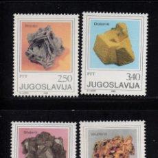 Sellos: YUGOSLAVIA 1734/37** - AÑO 1980 - MINERALES Y CRISTALES. Lote 75665423