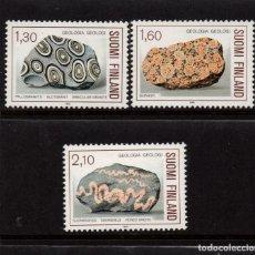 Sellos: FINLANDIA 946/48** - AÑO 1986 - MINERALES Y ROCAS. Lote 96053879