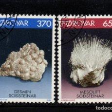 Sellos: FEROE 229/300 - AÑO 1992 - MINERALES Y ROCAS. Lote 96053983