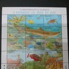 Sellos: MINIPLIEGO/HB / SELLOS (15V) DE DOMINICA NUEVOS. 1992. VIDA MARINA. FAUNA. FLORA. NATURALEZA. MARES.. Lote 98414484