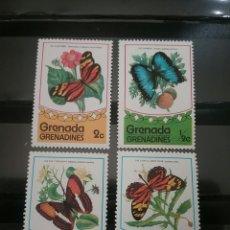 Sellos: SELLOS DE GRANADA Y GRANADA GRANADINAS NUEVOS.1975. MARIPOSAS.INSECTOS. NATURALEZA.FAUNA. FLORES. AN. Lote 103039990