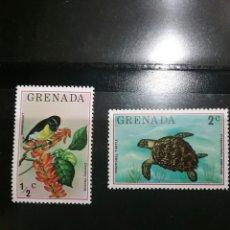 Sellos: SELLOS DE GRANADA (GRENADA) NUEVOS. 1976. FAUNA. FLORA. NATURALEZA. ANIMALES. AVES. TORTUGA. Lote 103076074