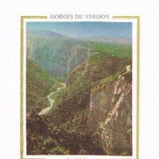 Sellos: FRANCIA IVERT 1996, GARGANTAS DE VERDON, TARJETA MAXIMA DE 4-3-1978 . Lote 108520435