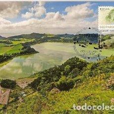 Sellos: PORTUGAL & MAXIMO, GEOPARK, VOLCANES DE AZORES, FURNAS 2017 (4326). Lote 109190475