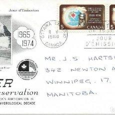 Sellos: 1968. CANADA. P.D./F.D.C. SELLO YT 402. DÉCADA HIDROLÓGICA INTERNACIONAL. AGUA/WATER. ENVIRONMENT.. Lote 111384859