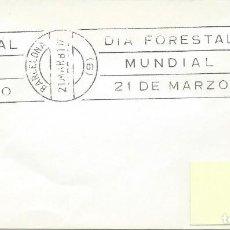 Sellos: 1981. BARCELONA. RODILLO/SLOGAN. DÍA FORESTAL MUNDIAL. WORLD FORESTRY DAY. NATURALEZA/NATURE.. Lote 113217459