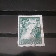 Sellos - Sellos de Argentina matasellados con bisagra. 1954. Arbol. Cataratas. Paisajes. Naturaleza. Flora. - 113262048