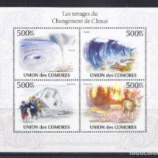Sellos: COMORES 2009 IVERT 1927/30 *** NATURALEZA - LOS ESTRAGOS DEL CAMBIO CLIMÁTICO. Lote 113688567