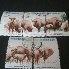 Sellos: SELLOS DE POLONIA (POLSKA) MATASELLADOS. 1981. BISONTE. PROTECCION NATURALEZA. ANIMALES. UNGULADOS.. Lote 114807168