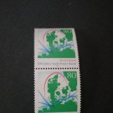 Sellos: SELLOS DE ALEMANIA NUEVOS. 1995. RUTAS MARITIMAS. CANAL DE KIEL. BARCOS. MAPA. MARES. PENINSULA. Lote 115484742