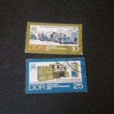 Sellos: SELLOS DE ALEMANIA, R. D. (DDR) MATASELLADOS. 1973. FERIA PRIMAVERA. COSECHADORA. CAMION. ORDENADOR.. Lote 115590876