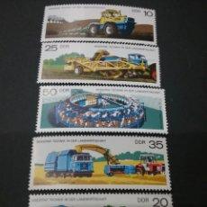 Sellos: SELLOS DE ALEMANIA, R. D. (DDR) NUEVOS. 1977. AGRICULTURA. CAMION. COSECHADORA. VACAS. GANADERIA. CA. Lote 115743986
