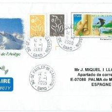 Sellos: 2008. FRANCIA/FRANCE. SOBRE PREFRANQUEADO. MEDIO AMBIENTE/ENVIRONMENT. FAUNA. AVES/BIRDS. ECOLOGÍA.. Lote 120008567