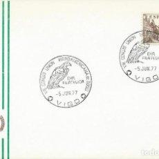 Sellos: 1977. VIGO. MATASELLOS/POSTMARK. VIII CONGRESO UNIÓN IBEROAMERICANA DE ZOOS. FAUNA. AVES/BIRDS.. Lote 120637943