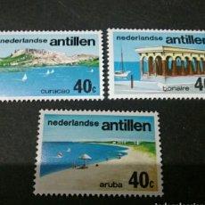 Sellos: SELLOS ANTILLAS HOLANDESAS NUEVOS. 1976. TURISMO. VELA. BARCO. PLAYA. MONTAÑA. PAISAJE.. Lote 127686078