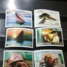 Sellos: SELLOS R. TANZANIA NUEVOS/2006/TURISMO EN ZANZIBAR/BARCO/VELERO/FAUNA/ARAÑA/TORTUGA/REPTIL/NATURALEZ. Lote 139214220