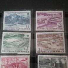 Sellos: SELLOS AUSTRIA (OSTERREICH) NUEVOS/1962/15 ANIV. NACIONALIZACION INDUSTRIA/ENERGIA ELECTRICA/PRESA/. Lote 140117369