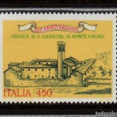 Sellos: ITALIA 1668** - AÑO 1985 - 950º ANIVERSARIO DE LA ABADIA SAN SALVATORE. Lote 142179922