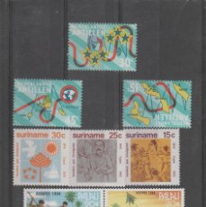 Sellos: LOTE COLONIAS SURINAME,PALAU,ANTILLAS HOLANDESAS.. Lote 146028894