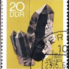 Sellos: 1969 - ALEMANIA - DDR - MINERALES - CUARZO - YVERT 1167. Lote 147431830