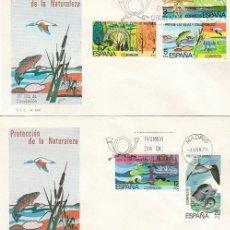 Sellos: EDIFIL 2469/73, PROTECCION DE LA NATURALEZA, PRIMER DIA DE 4-4-1978 EN 2 SOBRES DEL SFC . Lote 148187782