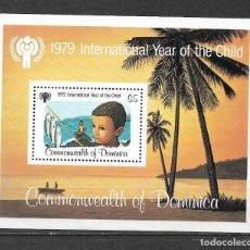 Sellos: DOMINICA 1979 ** MNH - CHICO MOSTRANDO LA CAPTURA DE PECES. -124. Lote 148654994