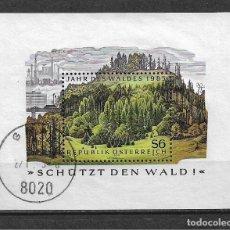 Sellos: AUSTRIA 1985 HOJA BLOQUE NATURALEZA - 117. Lote 148845642