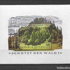 Sellos: AUSTRIA 1985 HOJA BLOQUE NATURALEZA - 117. Lote 148845678