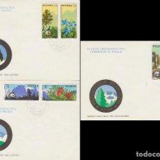 Sellos: POLONIA, 2368/72M CENTENARIO DE LA ASOCIACION DE GUIAS BESKID, MONTAÑA, PRIMER DIA DE 30-4-1975. Lote 150432542