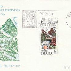 Sellos: EDIFIL 2307, CENTº CENTRO EXCURSIONISTA DE CATALUÑA, PRIMER DIA DE 10.2-1976, SOBRE DEL SFC. Lote 151256610