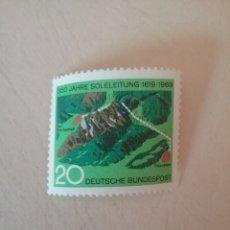 Sellos: SELLOS ALEMANIA, R. FEDERAL NUEVOS/1969/350 AÑOS DEL CONDUCTO AGUA SALADA/PAISAJE/NATURALEZA/PLANO/. Lote 154815517