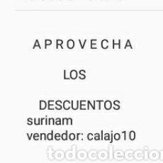 Sellos: DESCUENTOS SELLOS DE SERINAM (SURINAME) EN CALAJO10. Lote 155177101