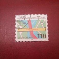Sellos: SELLOS ALEMANIA, R. FEDERAL MTDO/1998/PUENTEN DE GLIENICHER/ARQUITECTURA/RIO/PLANO/. Lote 155915726