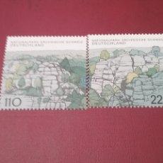Sellos: SELLOS ALEMANIA, R. FEDERAL MTDOS/1998/PARQUE NATURAL, NACIONALES. MONTES ROCOSOS SUIZA SAJONA/NATU. Lote 155923586