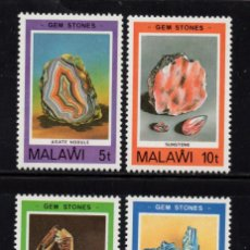 Sellos: MALAWI 354/57** - AÑO 1980 - MINERALES. Lote 156511742