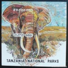Sellos - 1994. Naturaleza. TANZANIA. HB 221. Parque Nacional Manyara. Elefante. Nuevo. - 156635762