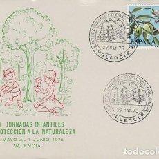 Sellos: AÑO 1975, PRIMERAS JORNADAS INFANTILES DE PROTECCION DE LA NATURALEZA EN VALENCIA. Lote 157001982