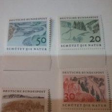 Sellos: SELLOS ALEMANIA, R. FEDERAL NUEVOS/1969/PROTECCION NATURALEZA/RIO/MONTAÑA/BOSQUE/PINOS/TRIGO/CAMPO/. Lote 158620810