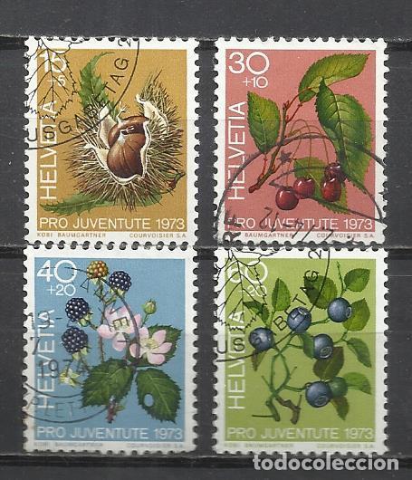 Q508O- SERIE COMPLETA SUIZA FLORES FLORA 1972 914/7.NATURALEZA.USADOS.HELVETIA. ENVIOS COMBINADOS S (Sellos - Temáticas - Naturaleza)